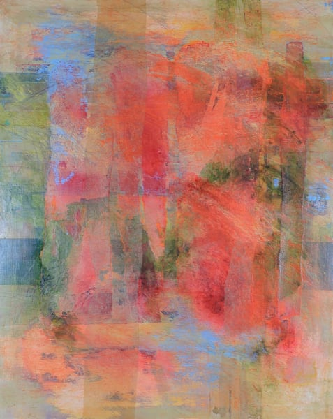 Sunset Row - Original Abstract Painting | Cynthia Coldren Fine Art