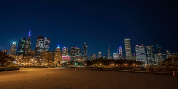 Chicago Skyline In October 2 Photography Art | William Drew Photography
