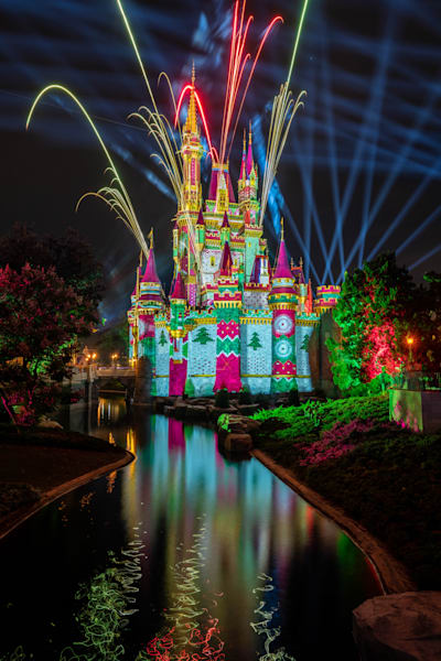 Christmas Fireworks 3 From Tomorrowland Photography Art | William Drew Photography