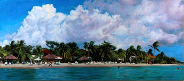 Couples Swept Away, Negril,Jamaica  Art   Waif Mullins Art