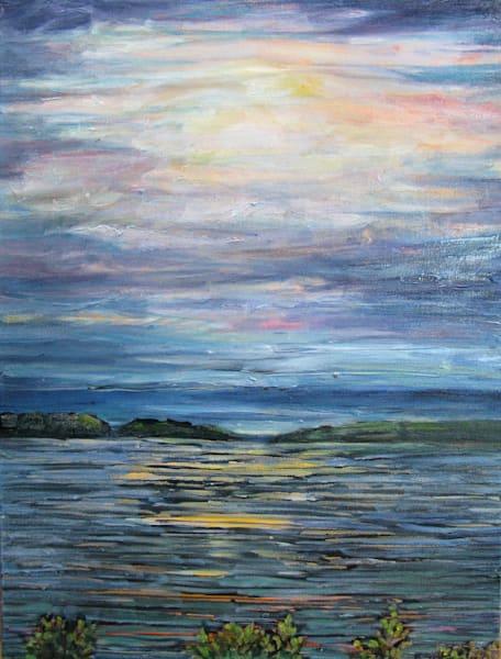 Sidney Harbour Winter Sunset #6 Art | kathleenschmalzartist