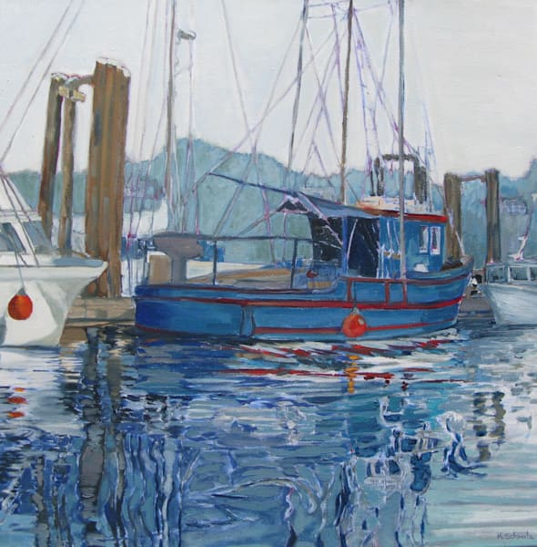 Lifting Fog: Sooke Harbour #1 Art | kathleenschmalzartist