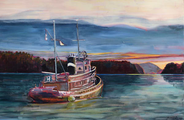 Tug Near Salt Spring Island Art | kathleenschmalzartist