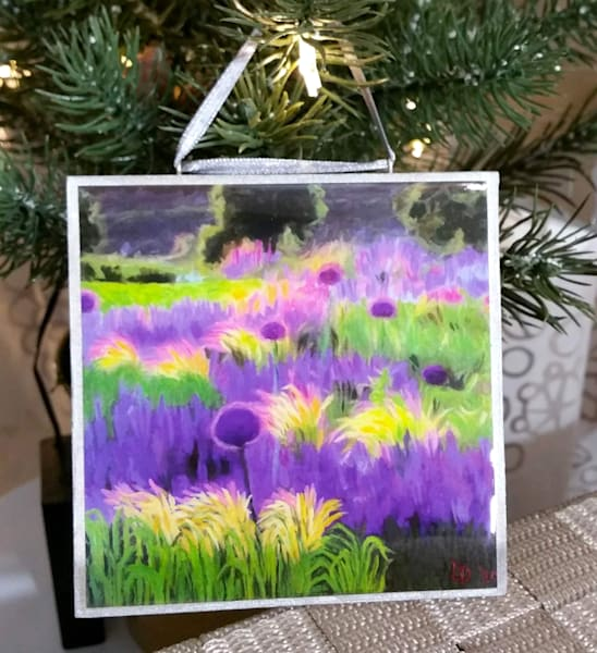 Ornament   Lavender And Allium Field I | smalljoysstudio