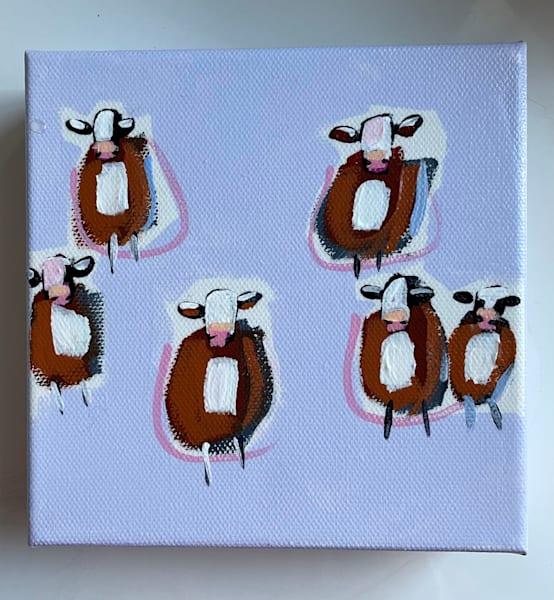 Mini Cow Lavender  | Lesli DeVito
