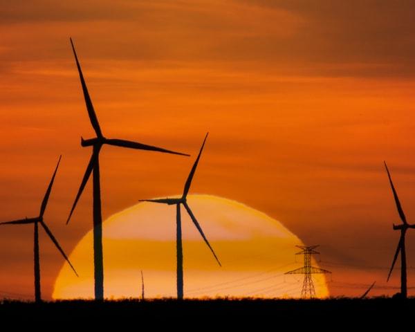 Sun And Turbines  Art | Jim Livingston Art