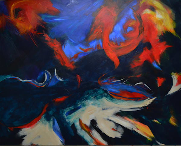 Original Abstract Painting Inspired by New Orleans Jazz and Blues Music by Artist George McClements