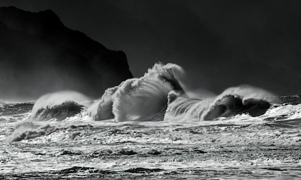 Waves In Shades Of Grey Photography Art | Ed Sancious - Stillness In Change