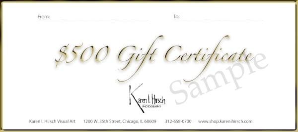 $500 Gift Card | karenihirsch