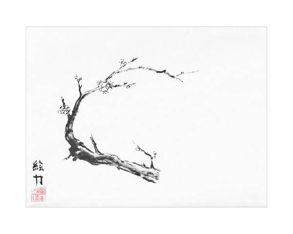 Plum Blossom Eight Art | HombretheArtist