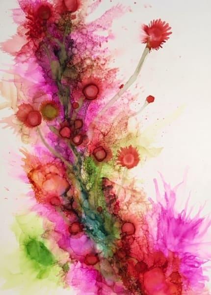 Pink Thistle Art   Art With Judy Ann