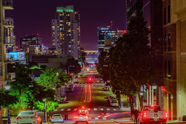 Downtown San Diego Eighth Avenue Fine Art Print by McClean Photography