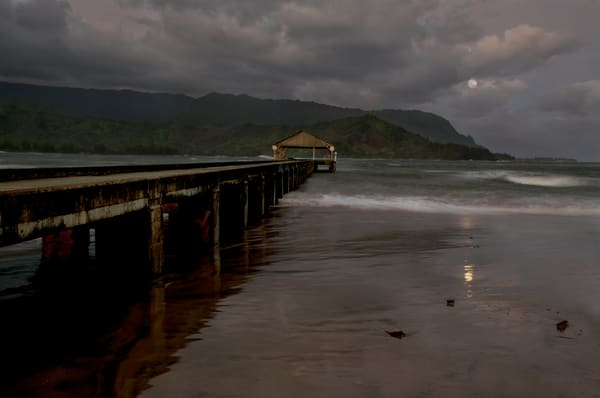 Hanalei Moonset Photography Art | Ed Sancious - Stillness In Change