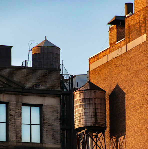 Chelsea Water Towers #2 Color, Nyc Photography Art | Ben Asen Photography
