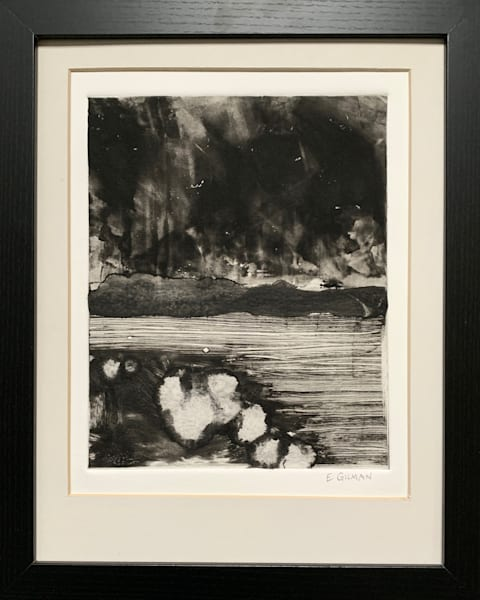 """Equinoxium"" Original Monotype on Paper by Emily Gilman Beezley"