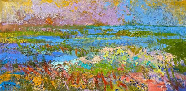 Beautiful Coastal Oil Painting, Original Art by Dorothy Fagan