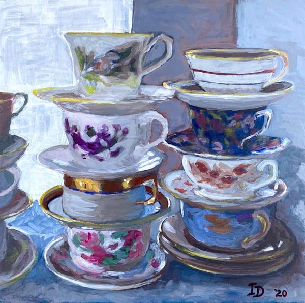 Still Life With Teacups I Art | smalljoysstudio
