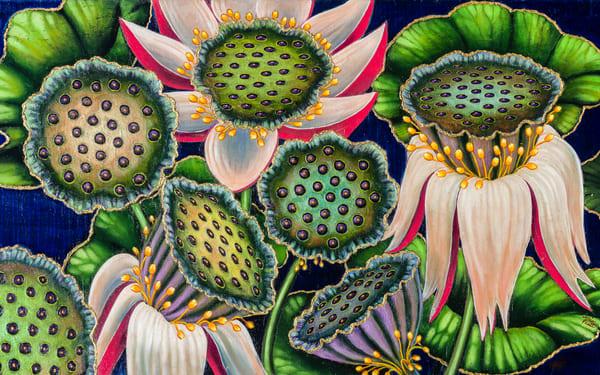 Lotus Blossoms Art | miaprattfineart.com