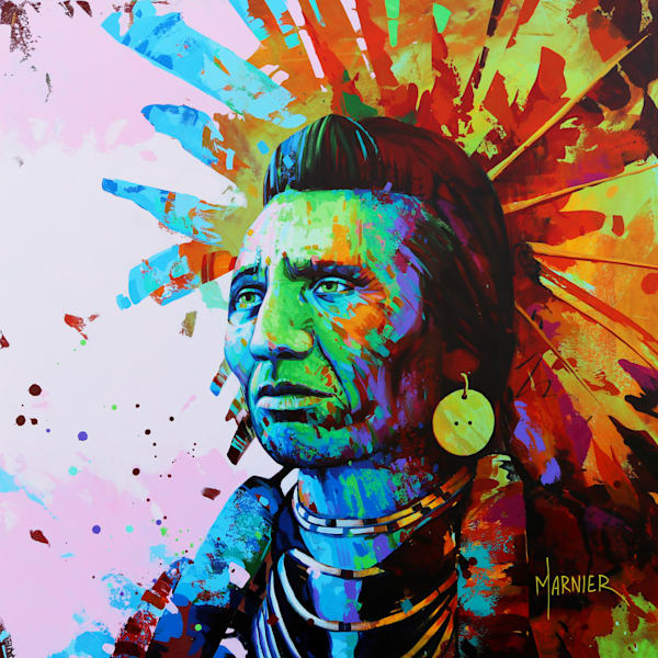 Chief Eagle, Marnier, Art, Hight-Quality HD Print
