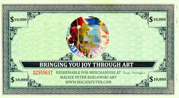 $10,000 Gift Card | Maciek Peter Kozlowski Art