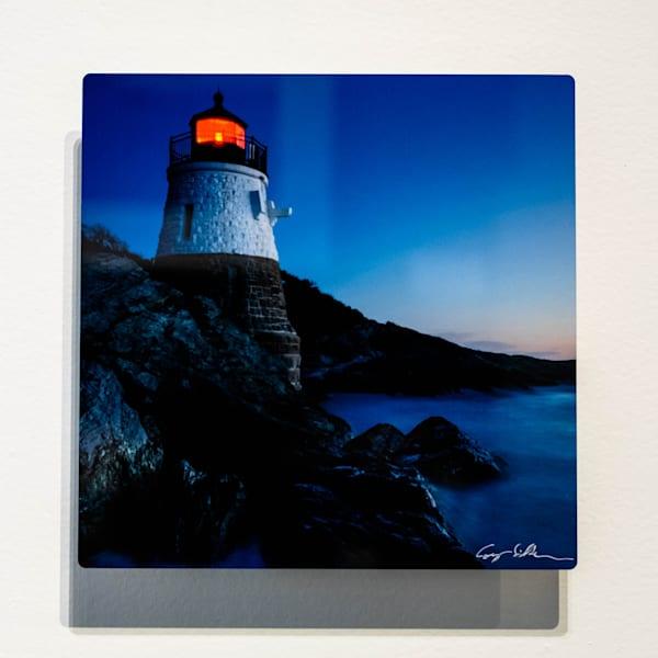 Castle Hill Lighthouse 8x8 Metal | Cory Silken Photography