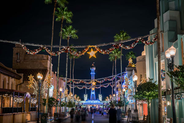 Christmas On Hollywood Boulevard Photography Art | William Drew Photography