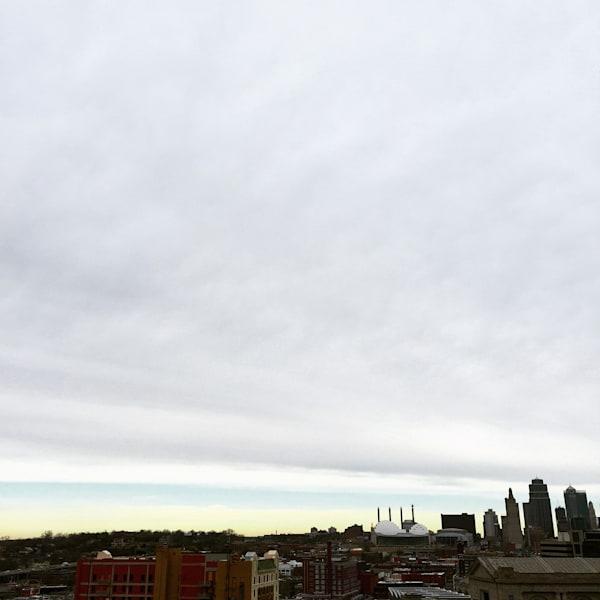 Kc Skyline In Winter   Art Show Matted Art | John Knell: Art. Photo. Design