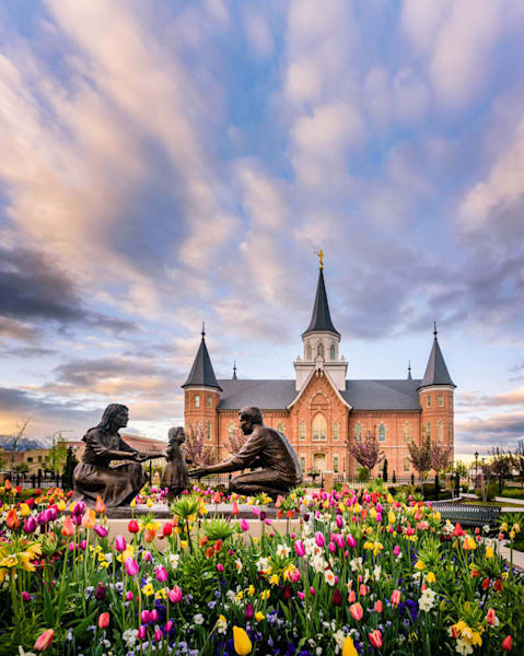 Provo City Center Temple - Tulips and Family