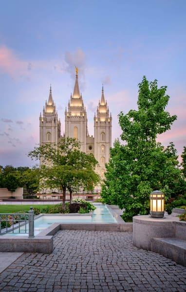 Salt Lake Temple - Temple Square Fountain