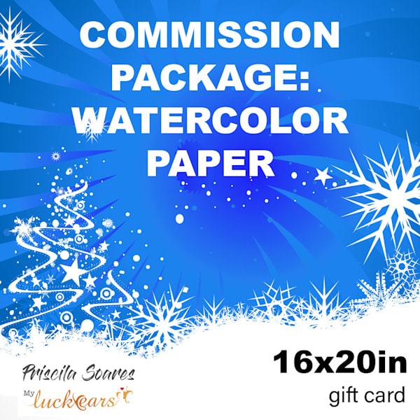 Commission   Watercolor Print   16x20 | Priscila Soares - MyLuckyEars