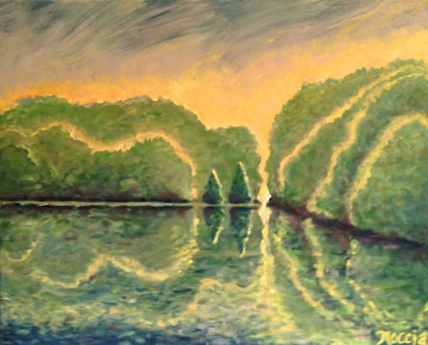Missouri River Glow, Private Collection Art   Wild Ponies creations