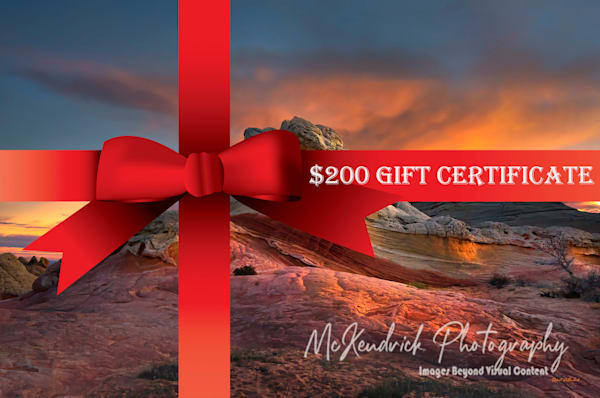 $200 Gift Certificate   McKendrick Photography