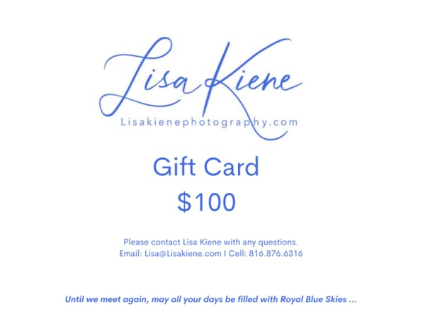 $100 Gift Card | Lisa Kiene Photography