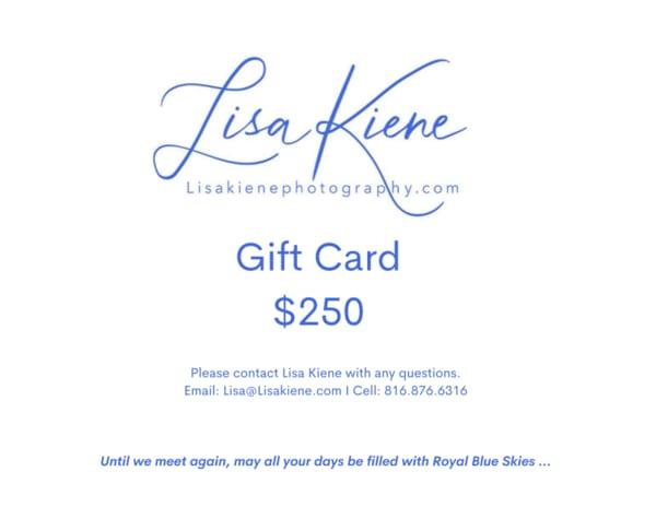 $250 Gift Card | Lisa Kiene Photography