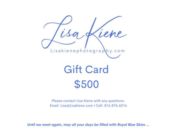 $500 Gift Card | Lisa Kiene Photography