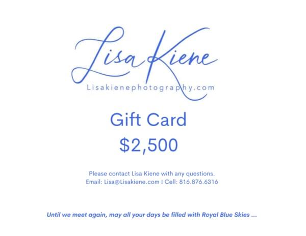 $2,500 Gift Card | Lisa Kiene Photography