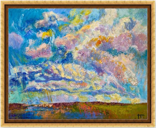 Beautiful Cloud Painting, Fine Art Canvas Print by Dorothy Fagan