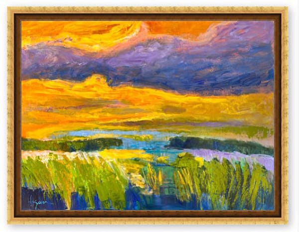 Large Marsh Painting, Fine Art Limited Edition Canvas by Dorothy Fagan