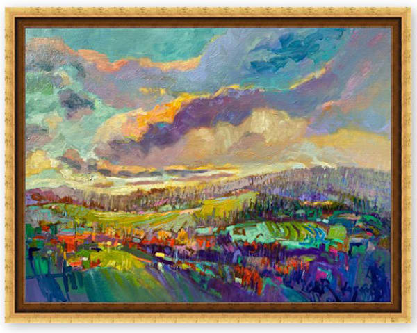 Beautiful Mountain Landscape Painting by Dorothy Fagan