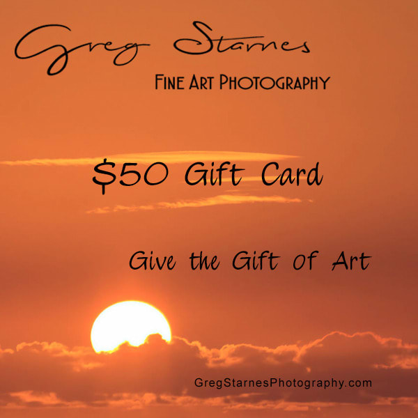 $50 Gift Card | Greg Starnes Phtography