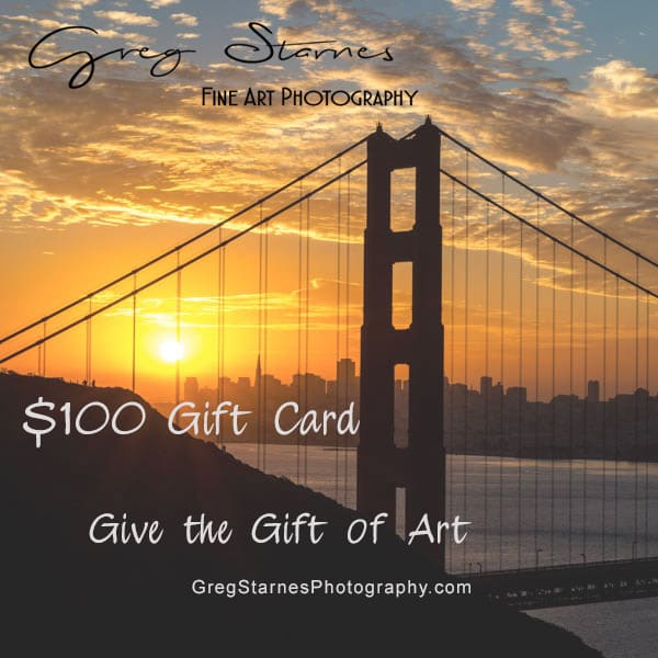 $100 Gift Card | Greg Starnes Phtography