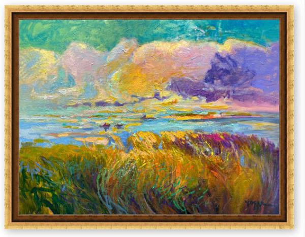 Large Marsh Painting, Taking Flight by Dorothy Fagan