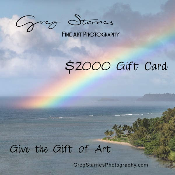 $2000 Gift Card | Greg Starnes Phtography