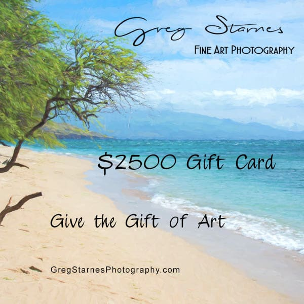 $2500 Gift Card | Greg Starnes Phtography