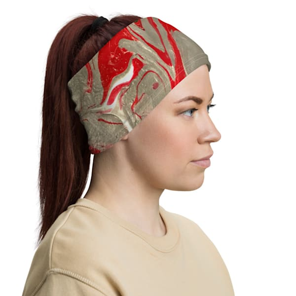 Scarlet & Gray Headband | Abstraction Gallery by Brenden