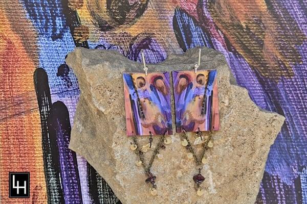 Scribble 32 No. 4 Earrings | Loree Harrell Art