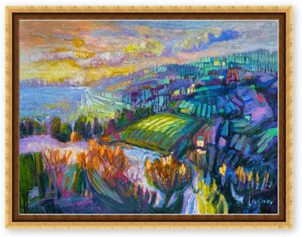River Landscape Painting by Dorothy Fagan