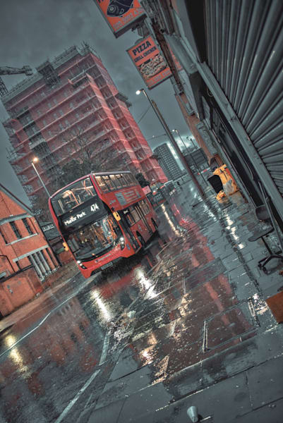 The Best Red Bus Ever Art | Martin Geddes Photography