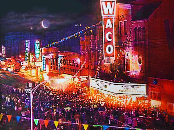 Waco Theatre 1960 Art | Charles Wallis