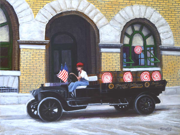 Dr Pepper Delivery Truck 1919 Art | Charles Wallis